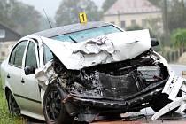 Vážná dopravní nehoda v Dětřichově na Frýdlantsku