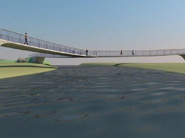 VIZUALIZACE budoucího mostu vTrojzemí od společnosti Valbek.