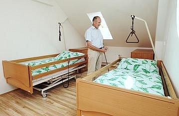 Pokoj z litoměřického hospice.