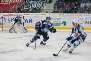 Utkání 23. kola Tipsport extraligy ledního hokeje se odehrálo 19. listopadu v liberecké Home Credit areně. Utkaly se celky Bílí Tygři Liberec a HC Kometa Brno. Na snímku v modrém je Ladislav Šmíd.