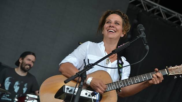 Aneta Langerová zazpívala na Benátské! 2018 v sobotu odpoledne.