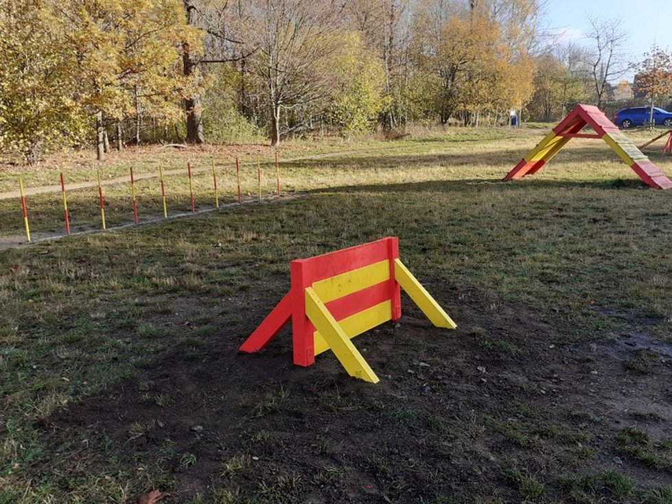 Opravené psí agility v Liberci.