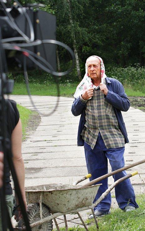 Natáčení lázeňské komedie Šejk, 2009.