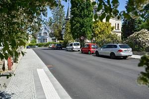 Opravené chodníky v Liberci.