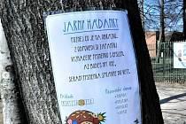 DDM Liberec Větrník rozmístil v termínu 31. 3. - 11. 4. v parku před DDM zábavnou venkovní hru Jarní hrátky.