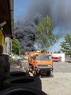 Požár v areálu Severochemy.