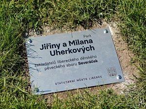 Otevření parku Jiřiny a Milana Uherkových.