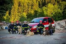 Kynologové hasiči z libereckého kraje bodovali vanketě Hasič roku