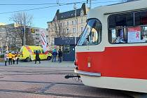 Osvětová AIDS tramvaj v Liberci.