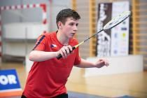 Jan Rázl z Badmintonového klubu Technické univerzity v Liberci.