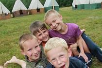 LETNÍ TÁBORY jsou pro děti velkým dobrodružstvím, ze kterého si přiváží nezapomenutelné zážitky na celý život. Ilustrační foto - dětský tábor.