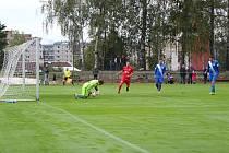 Momentka je ze zápasu Mšeno - Spartak Chrastava 0:3 (0:1).