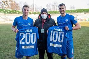 Dva jubilanti ze Slovanu. Vlevo Jakub Jugas, vpravo Matěj Chaluš.