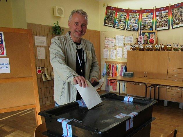 Lídr kandidátky Hnutí ANO v Libereckém kraji Jiří Bláha u voleb.