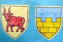 Horní Lužice má v erbu zlaté cimbuří, Dolní Lužice červeného býka. Oba znaky pocházejí z doby, kdy obě části Lužice patřily k českému království.