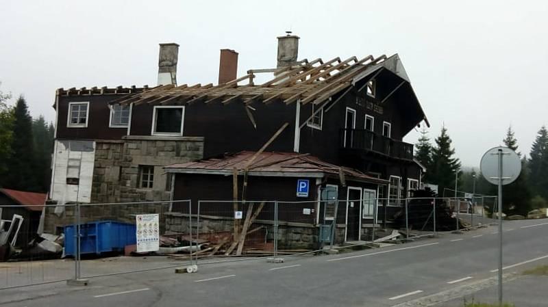 Chata na Smědavě.