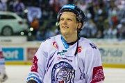 Páté utkání semifinále Generali play off Tipsport extraligy ledního hokeje mezi celky Bílí Tygři Liberec a Piráti Chomutov se odehrálo 7. dubna v liberecké Home credit areně. Na snímku Radim Šimek.