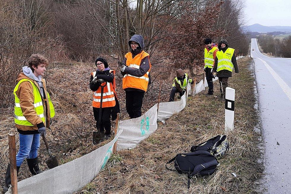 V Libereckém kraji se do pomoci žábám zapojili dobrovolníci.