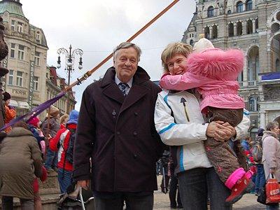 Na slavnostní zahájení SP 2008 v Liberci přišla také prezidentka MS Liberec 2009 Kateřina Neumannová a prezident FIS Gian Franco Kasper