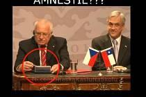 Krátce po vyhlášení amnestie se prezident republiky Václav Klaus stal terčem vtipů, které kolují sociálními sítěmi.