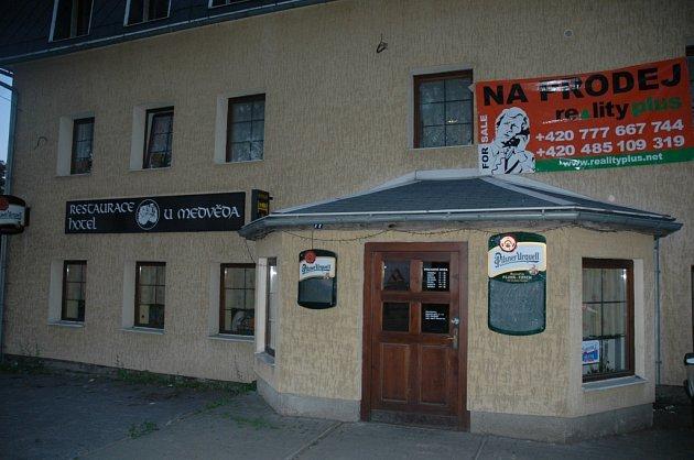 Restaurace U medvěda v Krásné Studánce.