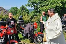 Požehnání motorkářům.
