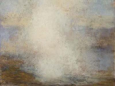 PUSTINA, V NÍŽ SE DUŠE DOTKNE VNITŘNÍ SVĚTLO. Obrazy Jiřího Nepasického uvidíte v Galerii U Rytíře.