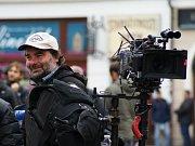 Filmaři natáčeli seriál před libereckou radnicí.