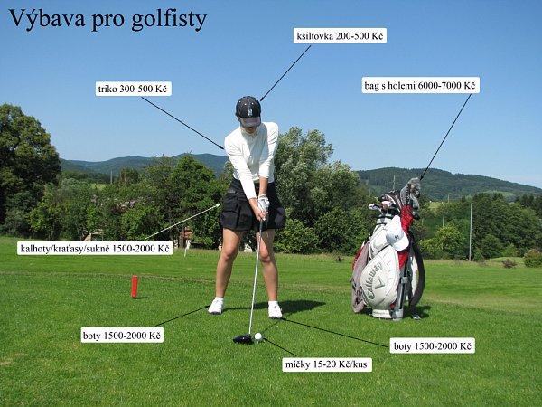 Kolik stojí výbara golfisty.