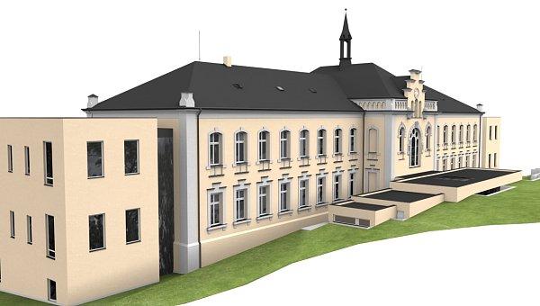 Budova kamenného hospice, jak bude vypadat po rekonstrukci.