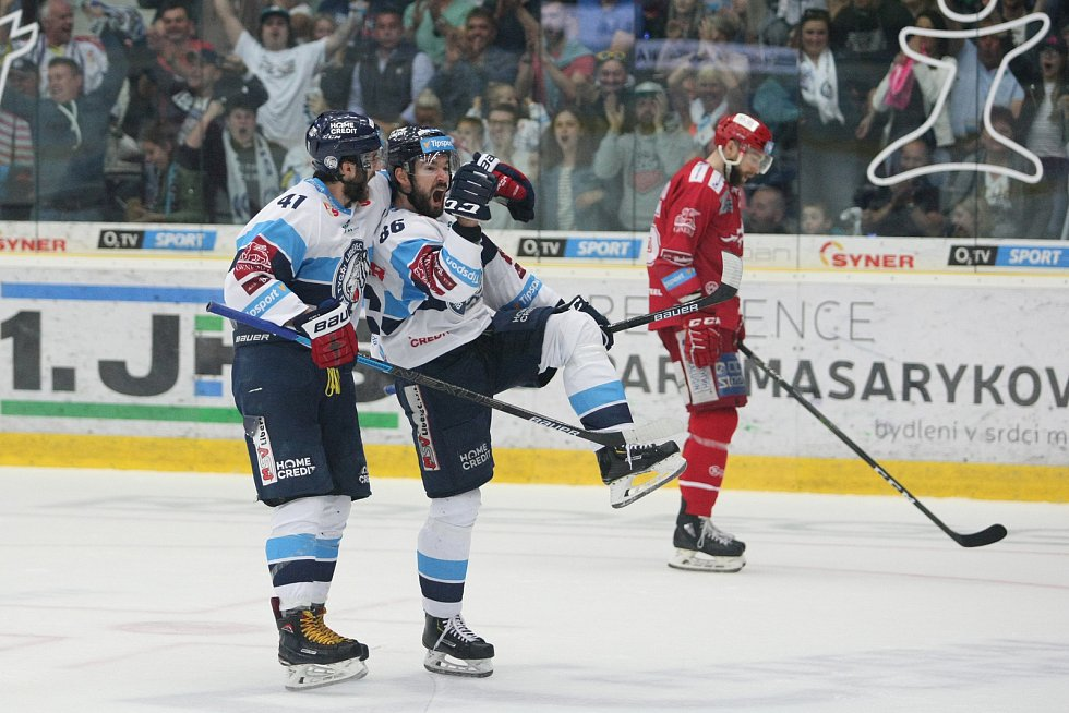 5. finále play-off hokejové extraligy mezi HC Bílí Tygři Liberec vs. HC Oceláři Třinec