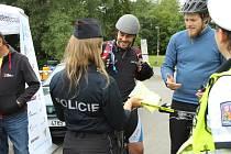 Policie kontrolovala cyklisty.