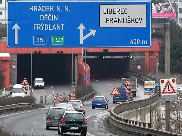 Liberecký tunel. Ilustrační foto.