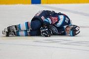 Utkání 23. kola Tipsport extraligy ledního hokeje se odehrálo 19. listopadu v liberecké Home Credit areně. Utkaly se celky Bílí Tygři Liberec a HC Kometa Brno. Na snímku je Michal Bulíř.