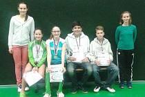 TJ SLOVAN VESEC. Nadějné badmintonové mládí.