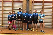 Žáci Badmintonového klubu Technické univerzity v Liberci.
