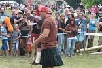 Skotské hry na zámku na Sychrově.