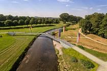 Aktuální návrh mostu v Trojzemí, který se rozhodli starostové Hrádku nad Nisou, Žitavy a Bogatynie zrušit.