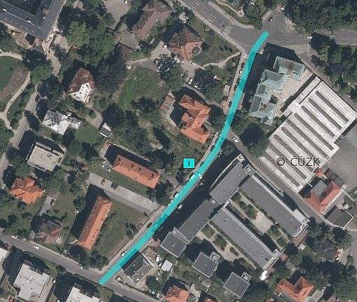Tyršova ulice, 2015, letecký snímek