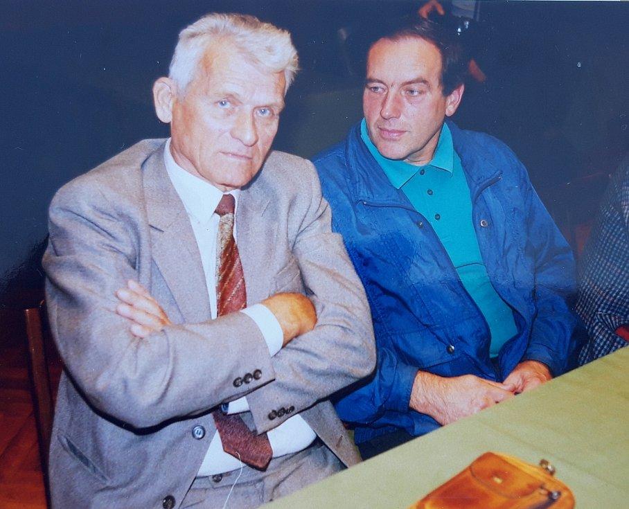 František Havránek spolu s bývalým hráčem Slovanu Jaromírem Paseckým