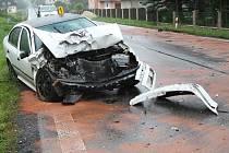 Ilustrační. Dopravní nehoda. Čelní střet.