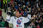 Utkání 46. kola WSM ligy ledního hokeje se odehrálo 3. února v liberecké Home Credit areně. Utkaly se celky HC Benátky nad Jizerou a Rytíři Kladno. Na snímku je Petr Nedvěd.