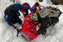 V Jizerských horách se na ledopádu zranil lezec. Pomohla mu Horská služba