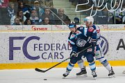 Utkání 23. kola Tipsport extraligy ledního hokeje se odehrálo 19. listopadu v liberecké Home Credit areně. Utkaly se celky Bílí Tygři Liberec a HC Kometa Brno. Na snímku vlevo je Martin Bakoš.