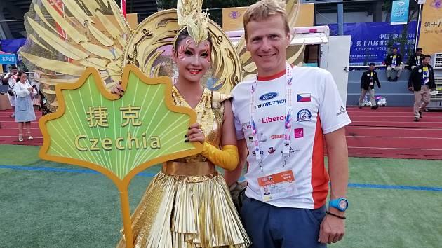 Radek Musil na Světových policejních a hasičských hrách v Číně