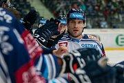 Utkání 39. kola Tipsport extraligy ledního hokeje se odehrálo 12. ledna v liberecké Home Credit areně. Utkaly se celky Bílí Tygři Liberec a HC Vítkovice Ridera. Na snímku je Rostislav Olesz.