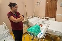První miminko narozené letos v liberecké porodnici.