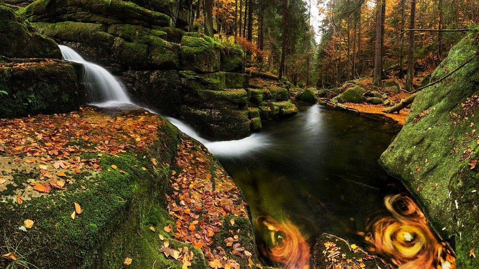 Podzim v Jedlovém dole.