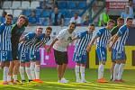 Zápas 1. kola první fotbalové ligy mezi týmy FC Slovan Liberec a MFK Karviná se odehrál 21. července na stadionu U Nisy v Liberci. Na snímku je radost hráčů Liberce.