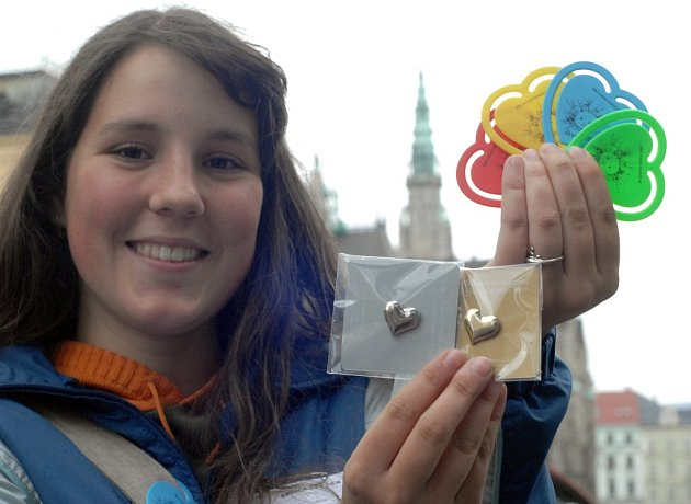 Sbírka nazvaná Srdíčkový den - liberecká studentka Monika Brunetová.